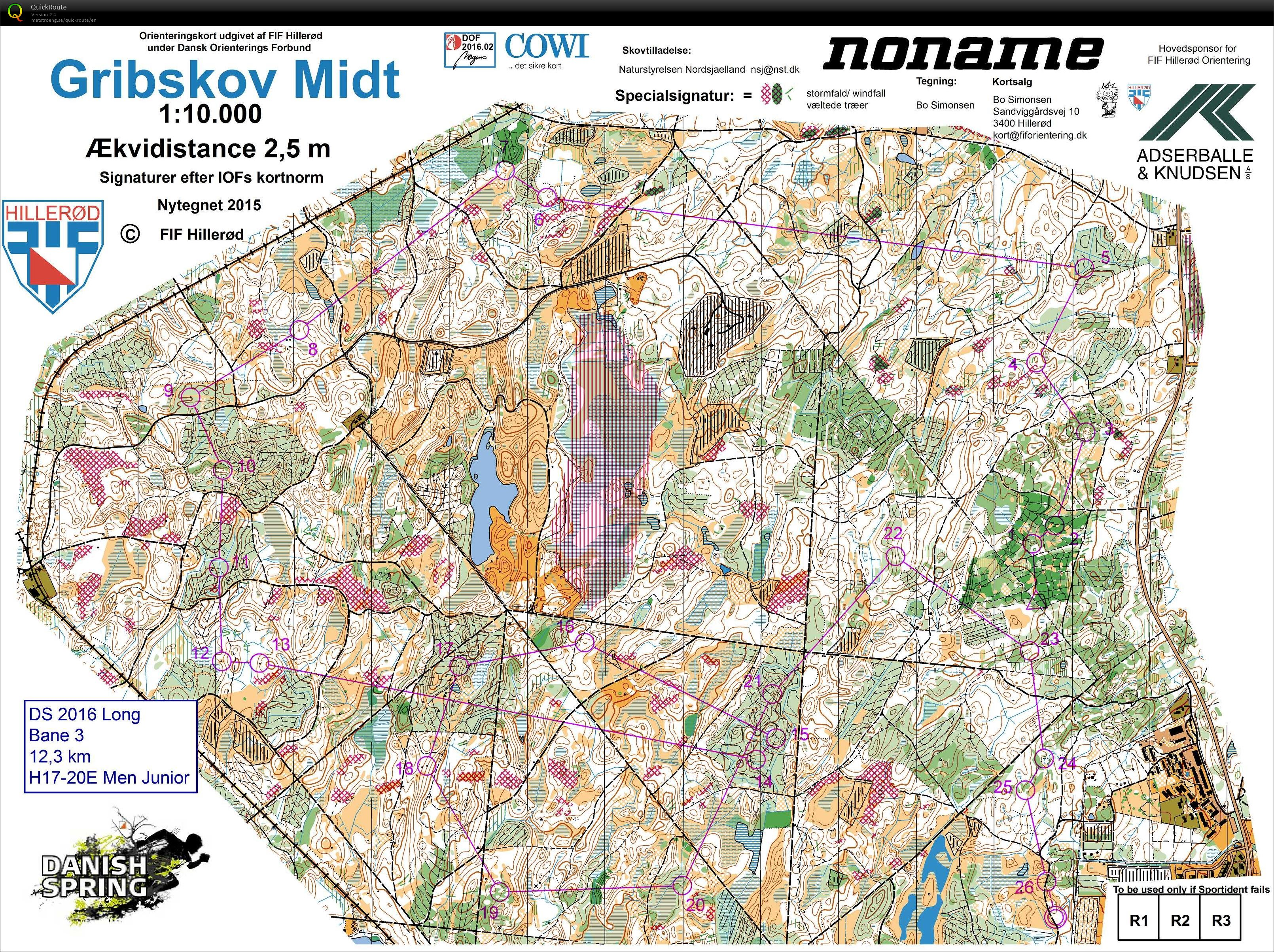 Danish Spring Langdistanse March 21st 2016 Orienteering Map