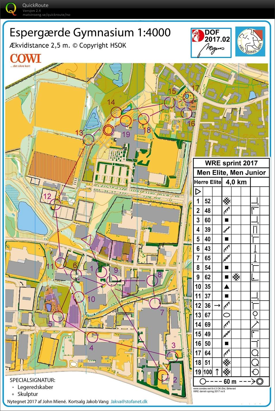 Danish Sprint March 24th 2017 Orienteering Map From Ulrik